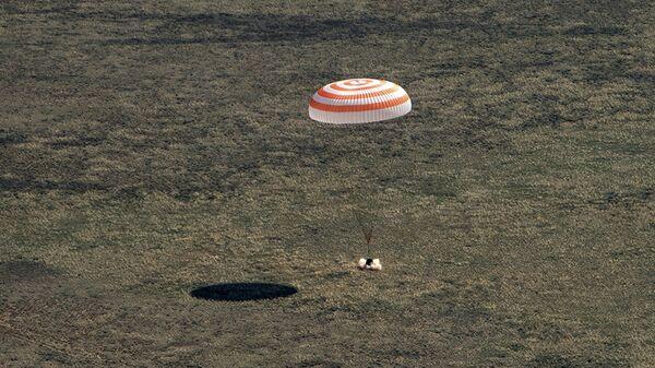 Посадка пилотируемого корабля Союз МС-15. 17 апреля 2020