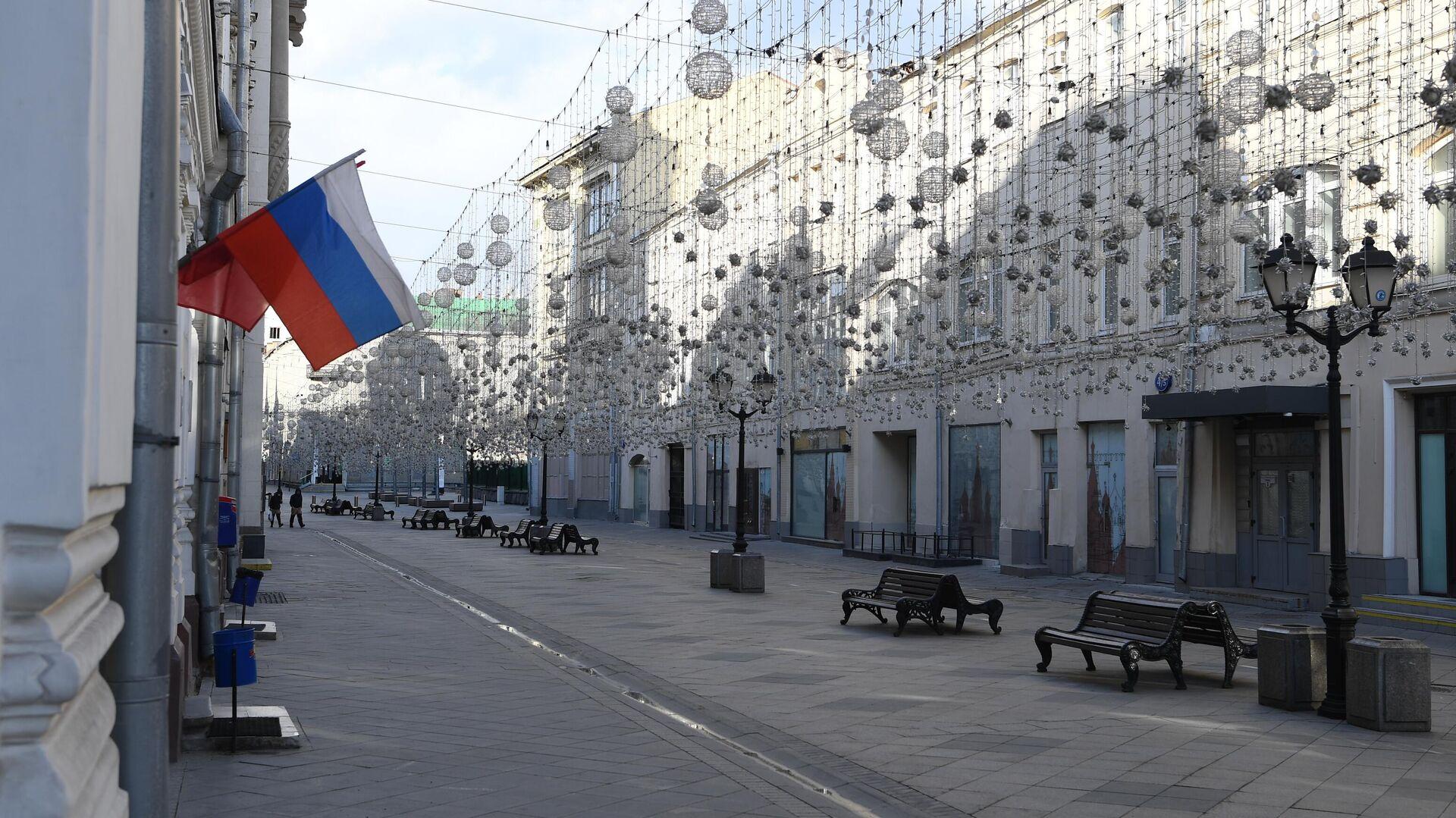 Пустая Никольская улица в Москве - РИА Новости, 1920, 12.06.2021