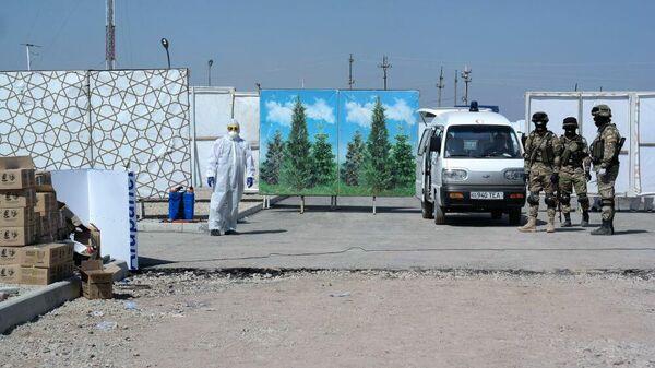 Контейнерная зона в Узбекистане