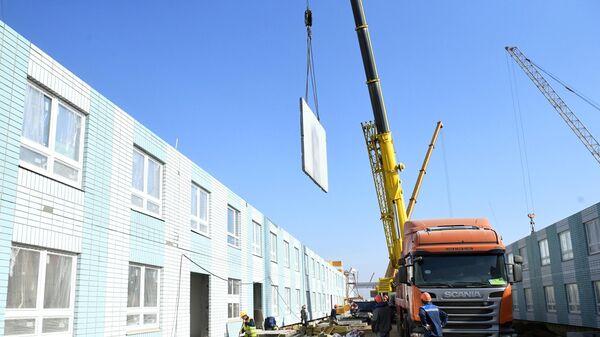 Продолжается строительство инфекционной больницы в Новой Москве
