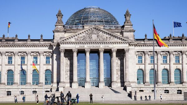 Историческое здание Рейхстага в центре Берлина