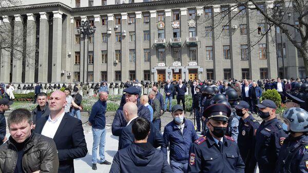 Митинг во Владикавказе