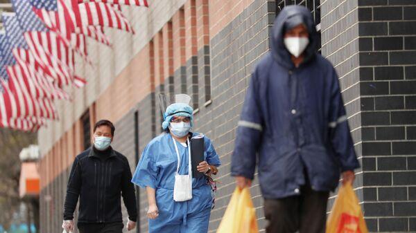 Нью-Йорк во время пандемии коронавируса COVID-19