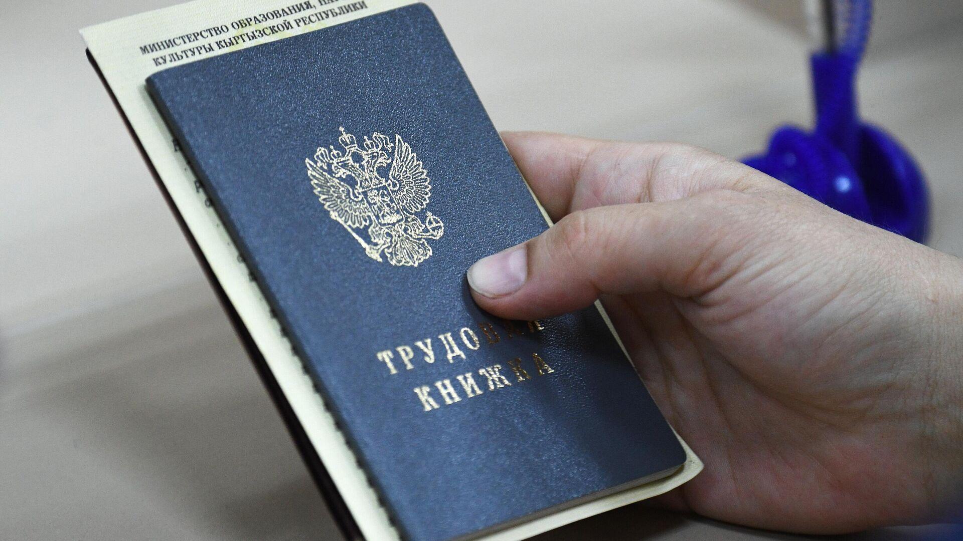 Сотрудница Центра занятости населения Ленинского района в Новосибирске держит в руках документы посетителя - РИА Новости, 1920, 19.11.2020