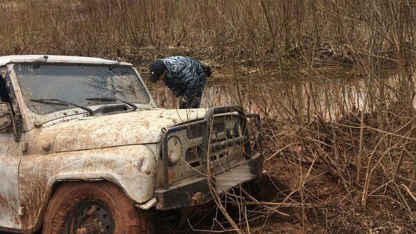 Автомобиль обнаруженный в Тоншаевском районе Нижегородской области