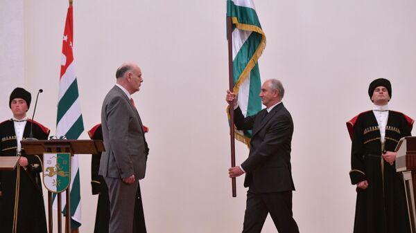Инаугурация избранного президента Абхазии Аслана Бжании. 23 апреля 2020