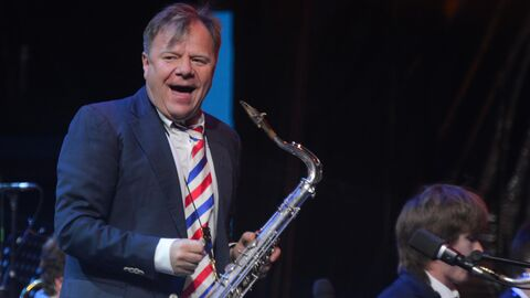 Музыкант Игорь Бутман выступает на Международном джазовом фестивале Koktebel Jazz Party в Коктебеле