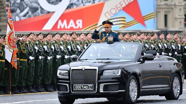 Министр обороны РФ Сергей Шойгу на военном параде на Красной площади, посвящённом 74-й годовщине Победы в Великой Отечественной войне
