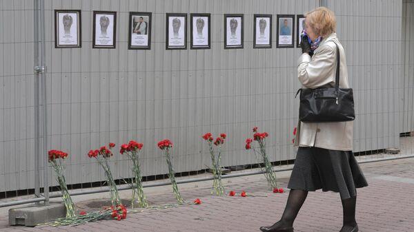 Мемориал в честь умерших от коронавируса медиков  в Санкт-Петербурге