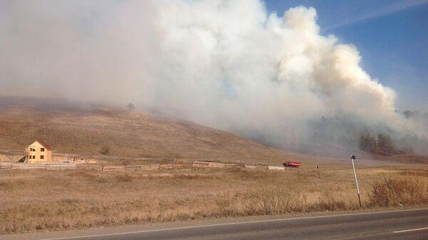 Природный пожар в Иркутской области