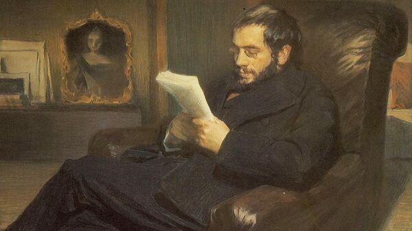 Александр Бенуа. Портрет работы Леона Бакста, 1898 год