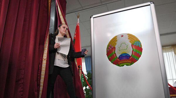 Избирательный участок в Минске