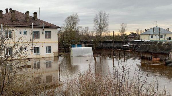 Обстановка на территории Вологодской области, сложившаяся в результате подтопления