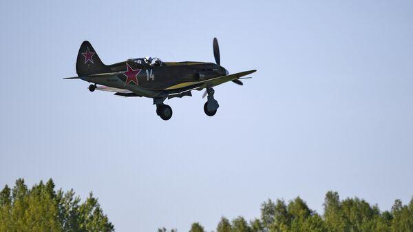 Тренировочный полет восстановленного самолета МиГ-3