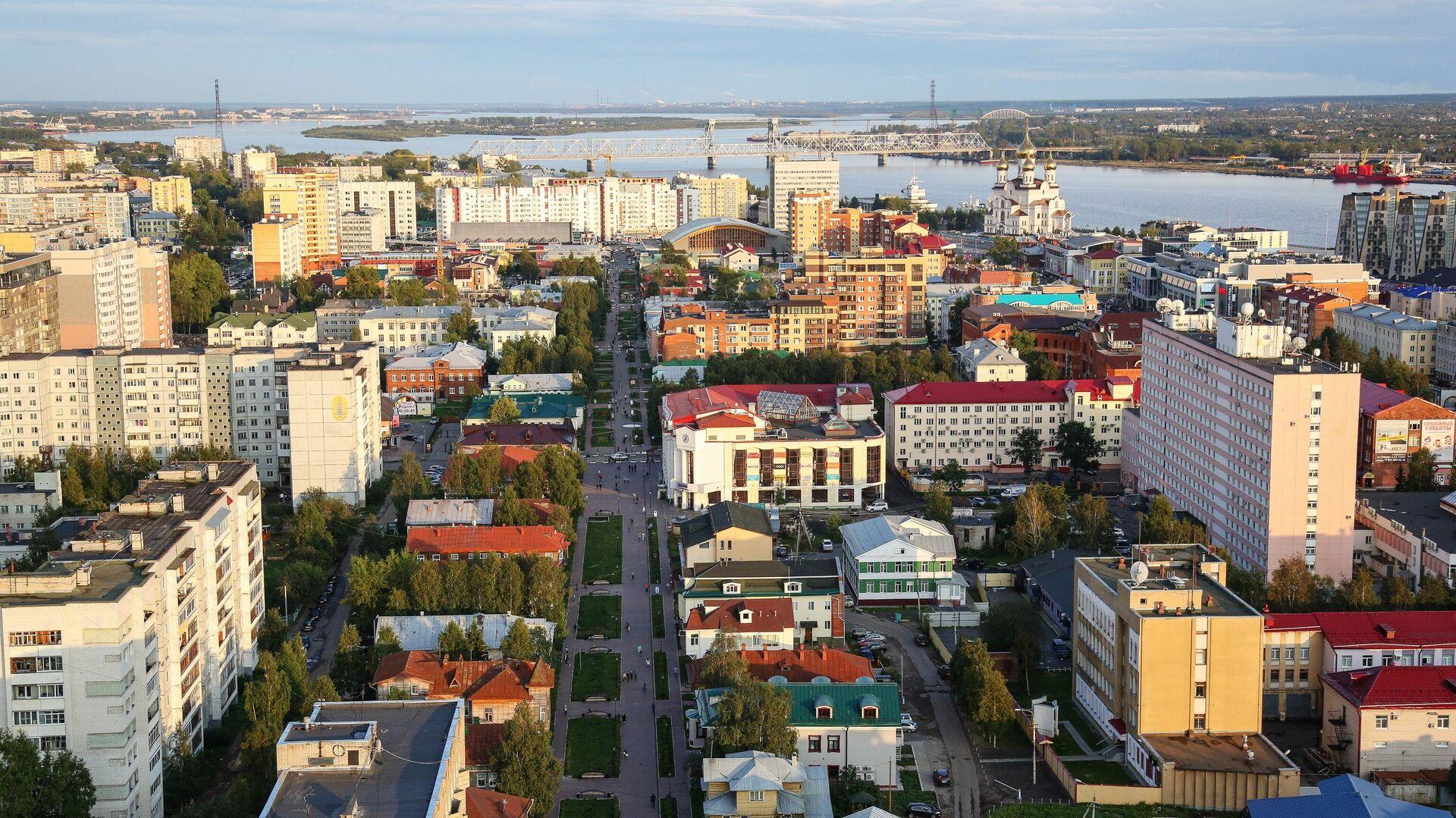 Вид на центральную часть города Архангельска - РИА Новости, 1920, 01.09.2021