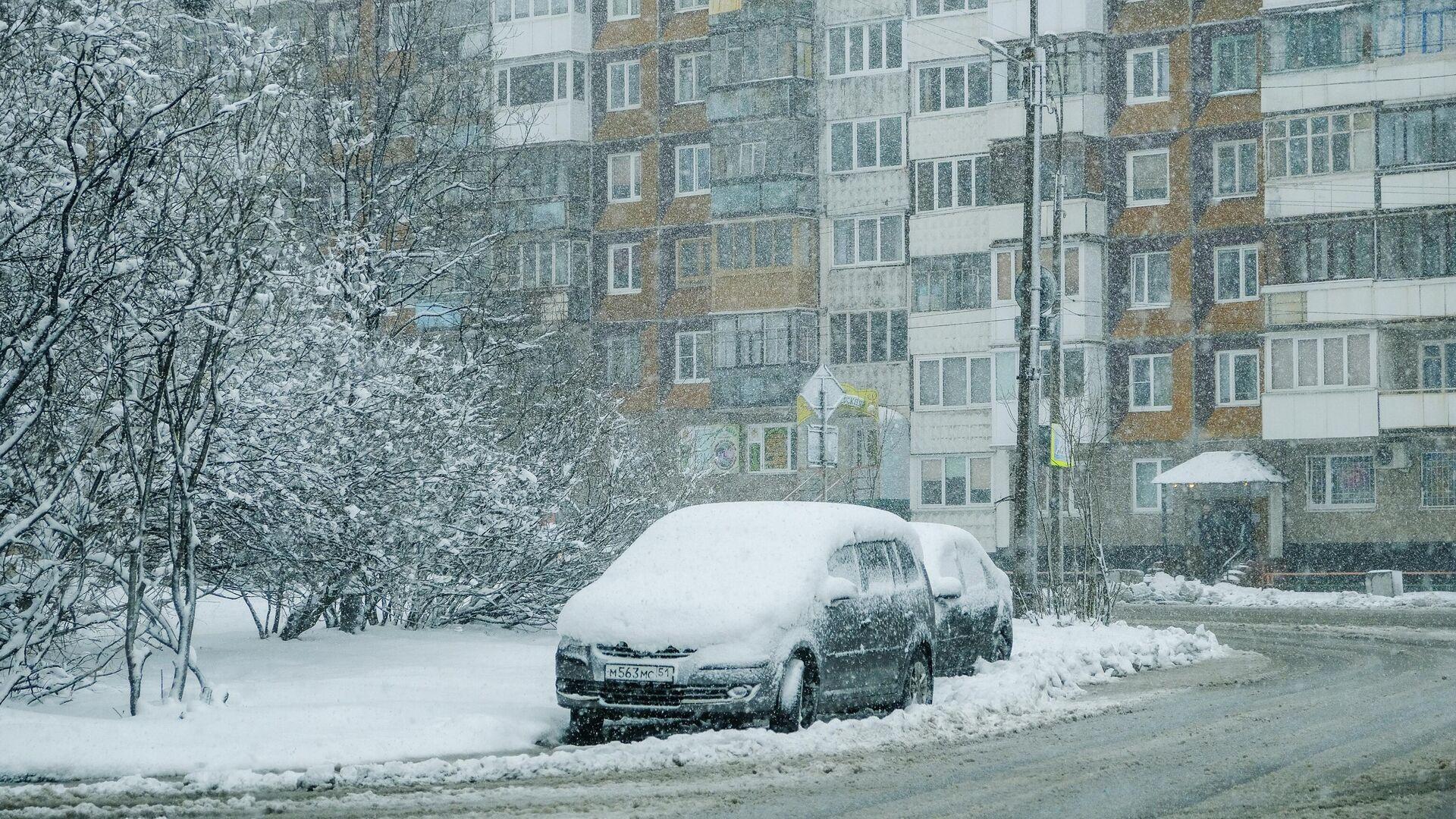 Снегопад в Мурманске - РИА Новости, 1920, 21.10.2020