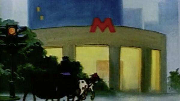 Кадр из мультфильма Старая пластинка