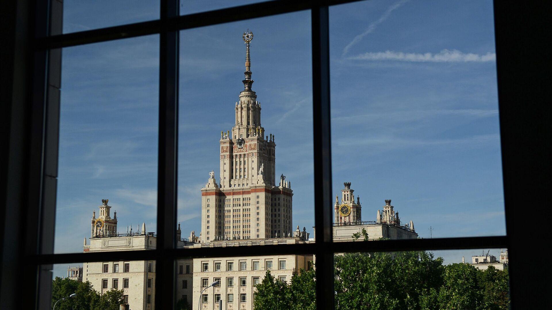 Вид на здание Московского государственного университета имени М.В. Ломоносова - РИА Новости, 1920, 11.11.2020