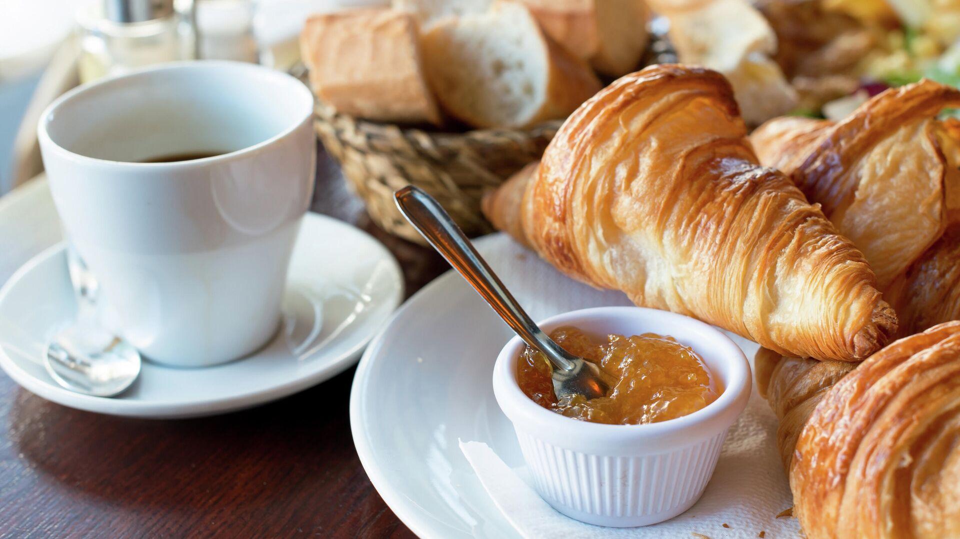 Традиционный французский завтрак  - РИА Новости, 1920, 24.03.2021