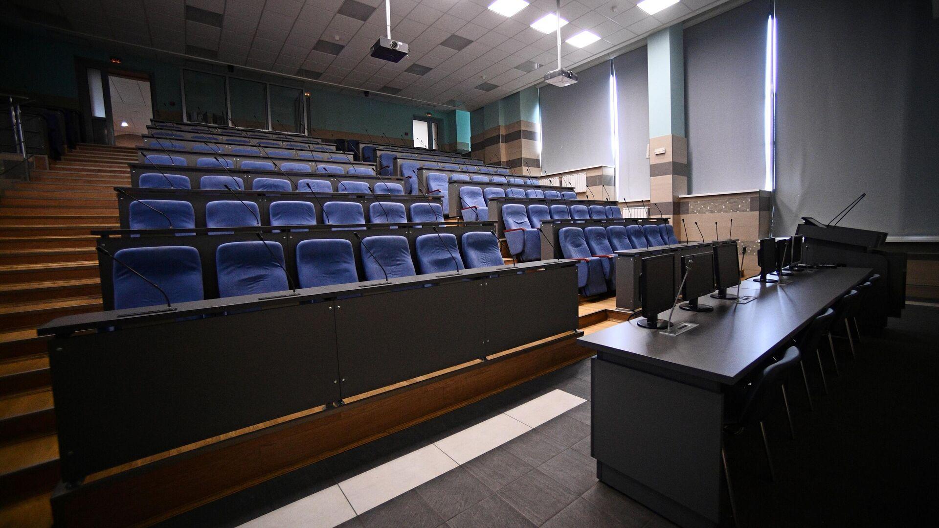 Пустая аудитория Национального исследовательского технологического университета МИСиС - РИА Новости, 1920, 17.11.2020