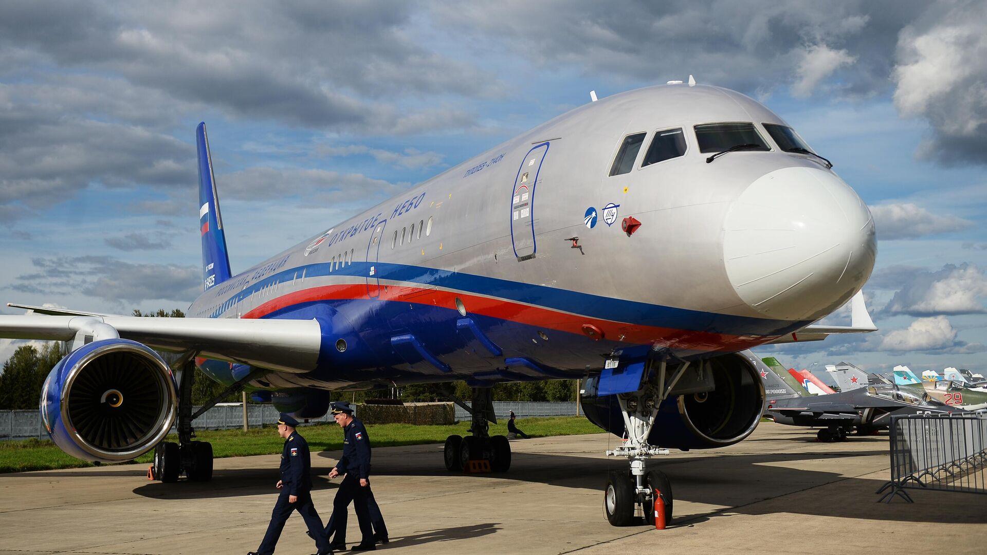Самолёт авиационного наблюдения Ту-214ОН (Открытое небо) - РИА Новости, 1920, 17.01.2021