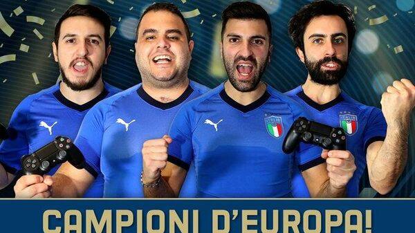 Игроки сборной Италии по киберфутболу