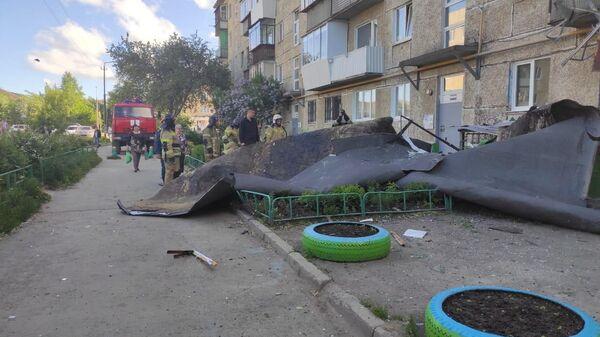 Последствия штормового ветра в Свердловской области