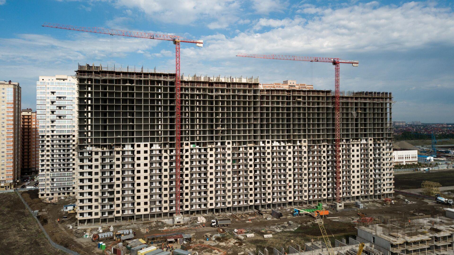 Строительство жилых домов - РИА Новости, 1920, 22.01.2021