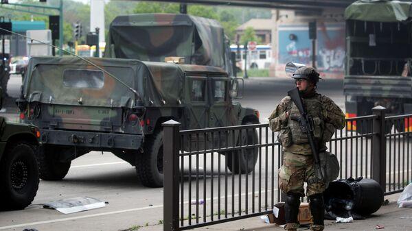 Военнослужащий Национальной гвардии США в Миннеаполисе