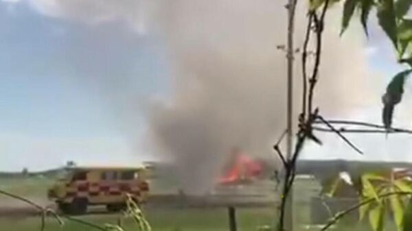Возгорание воздушного судна АН-2 частной авиакомпании Тараз Жана Алем в Урджаре Восточно-Казахстанской области