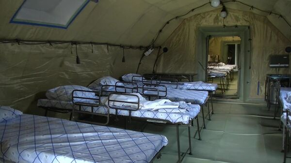 Полевой госпиталь в Дагестане