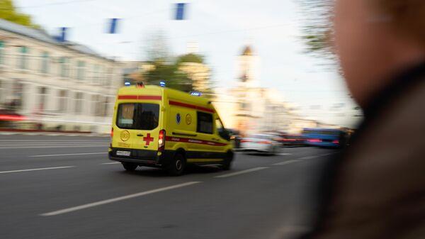 Машина скорой медицинской помощи в Твери