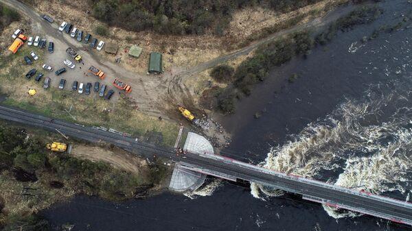 Восстановление железнодорожного моста через реку Кола под Мурманском