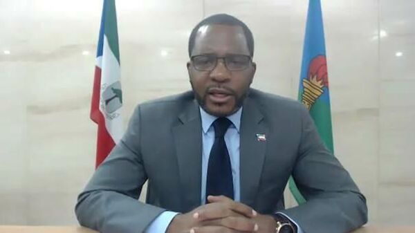 Министр горнорудной промышленности и углеводородов Экваториальной Гвинеи Габриэль Мбага Обианг Лима