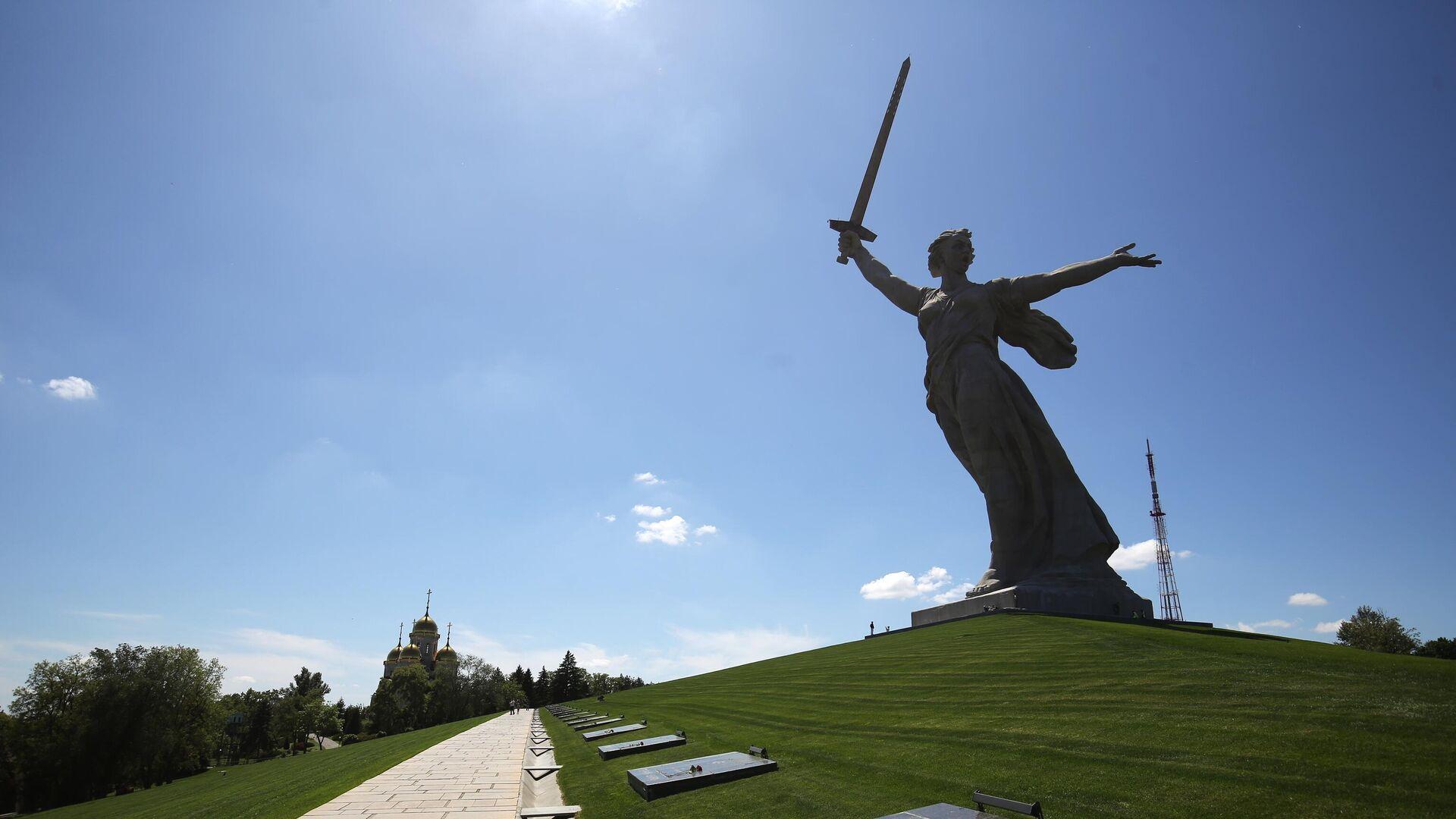 Монумент Родина-мать зовет! на Мамаевом кургане после реставрации - РИА Новости, 1920, 19.08.2020