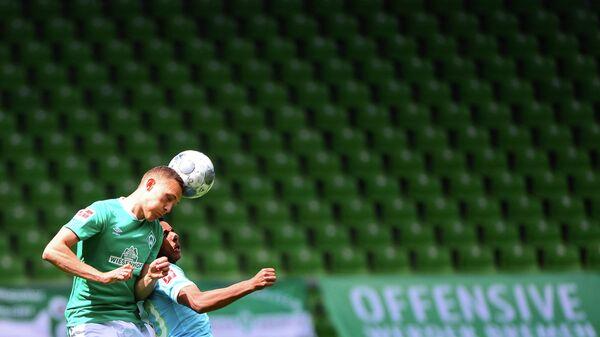 Игровой момент матча Вердер - Вольфсбург
