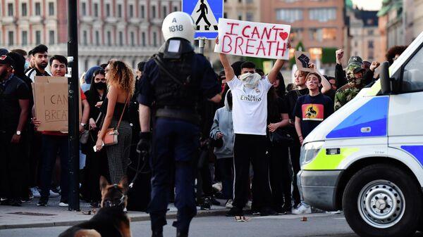 Акция протеста в Швеции