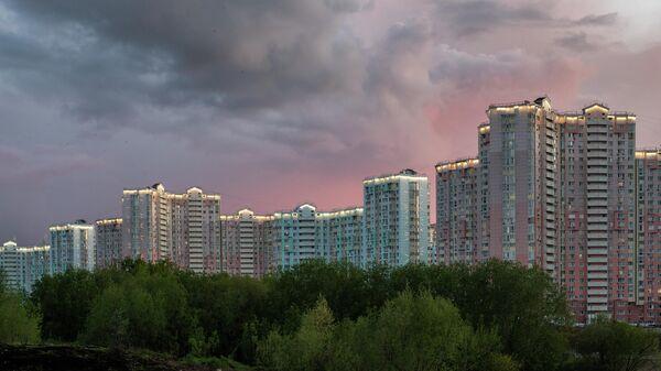 Жилые дома в микрорайоне Павшинская пойма в Красногорске Московской области