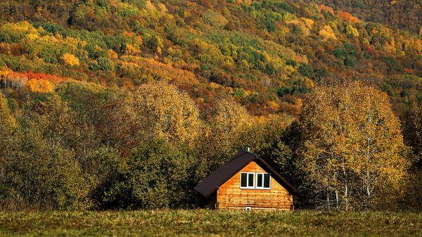 Деревянный жилой дом в поселке