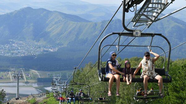 Отдыхающие в Республике Алтай