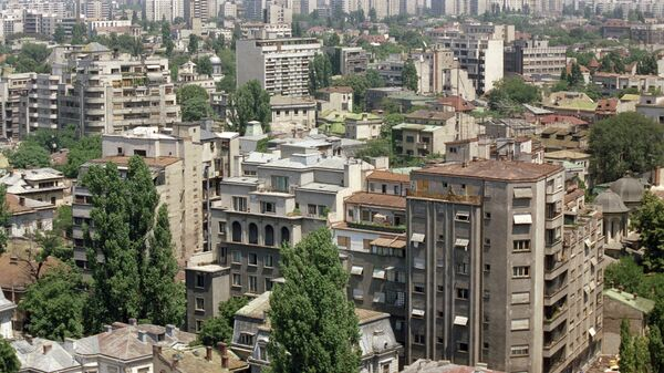 Панорама города Бухареста