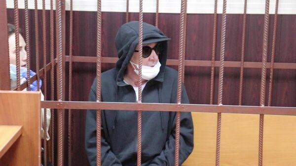 Актер Михаил Ефремов во время избрания меры пресечения в Таганском суде Москвы