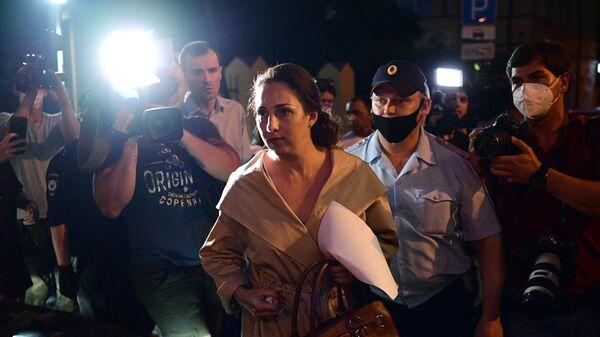 Адвокат актёра Михаила Ефремова Елизавета Шаргородская после заседания Таганского суда