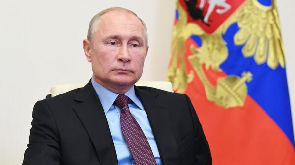 Президент РФ Владимир Путин проводит заседание Совета безопасности РФ
