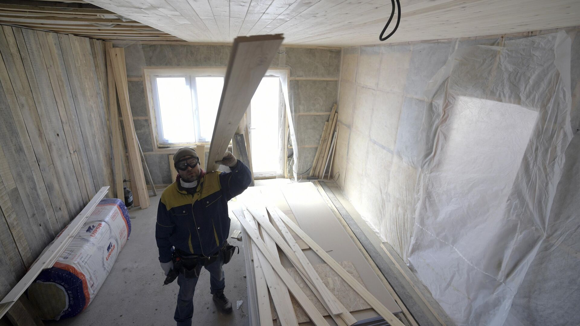 Строительство дома в Ленинградской области - РИА Новости, 1920, 26.01.2021