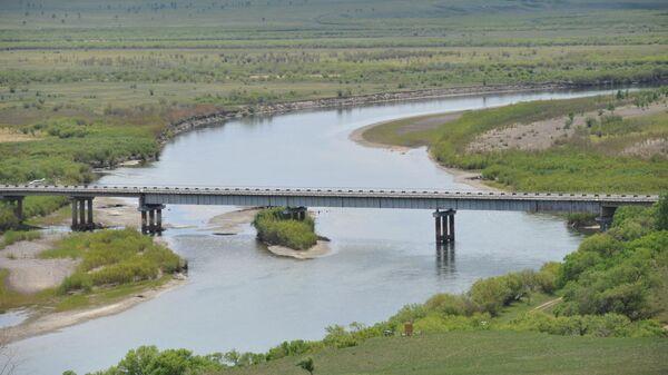 Автомобильный мост через реку Онон в Забайкальском крае