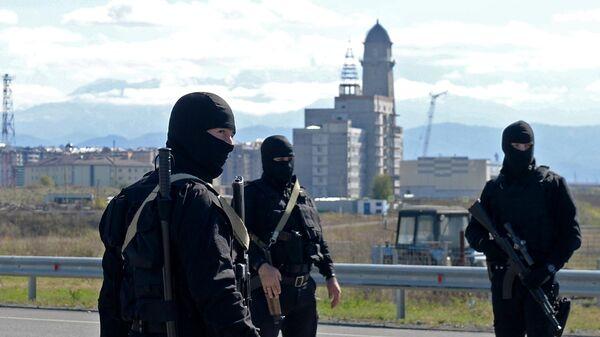 Сотрудники правоохранительных органов в Ингушетии
