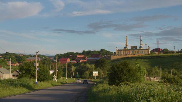 Вид города Назрань в Ингушетии