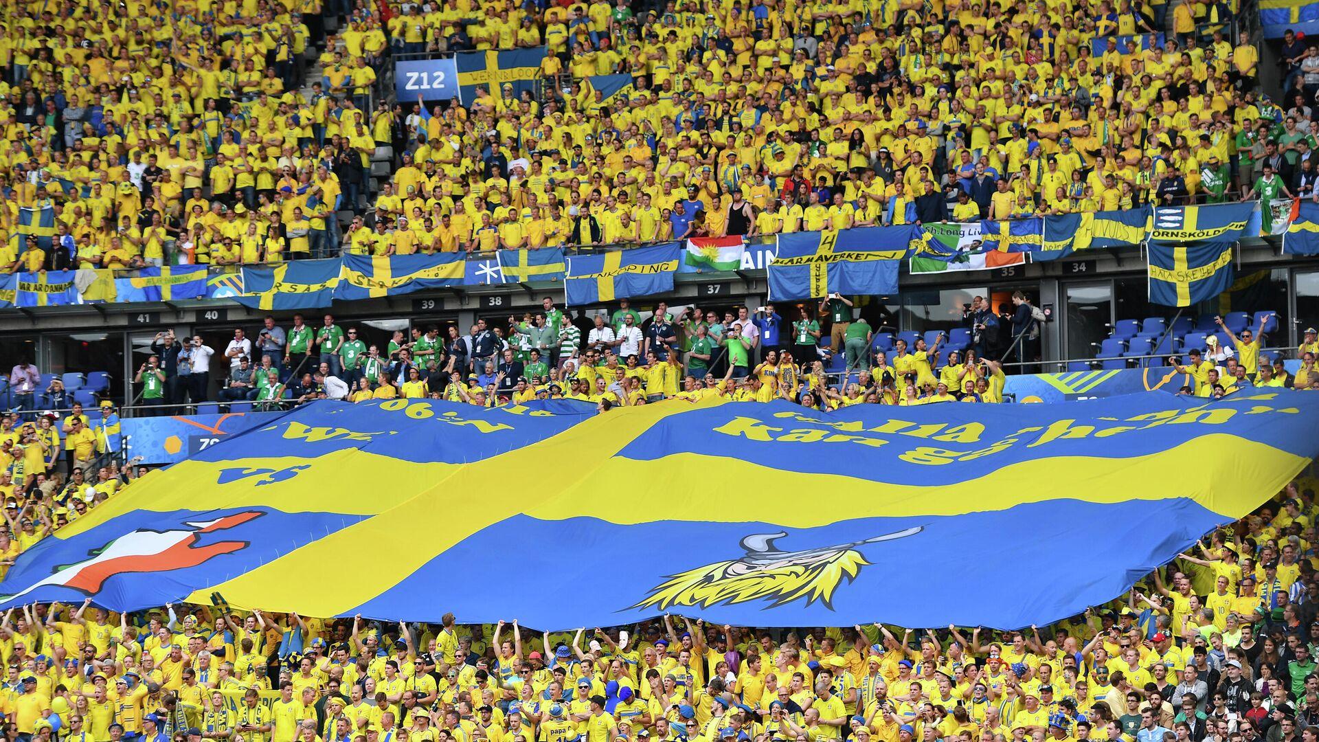 Болельщики сборной Швеции по футболу - РИА Новости, 1920, 30.09.2020