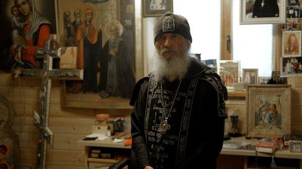 Бывший схиигумен Сергий в Среднеуральском женском монастыре в Свердловской области